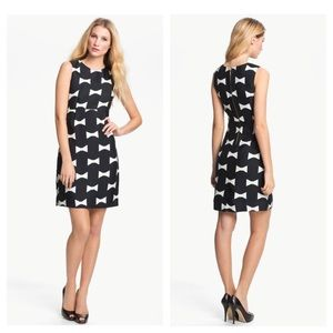 kate spade Cora bow print sheath dress Sz 4